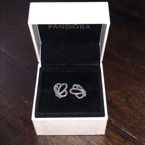 Pandora butterfly earrings. Never worn.